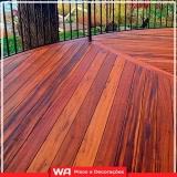 decks madeira sacada apartamento Jardim Platina