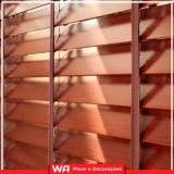 fabricante de persiana de madeira Jardim Platina