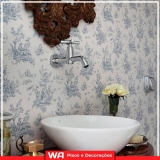 papel de parede banheiro Cidade das Flores