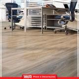 piso vinílico de madeira Francisco Morato