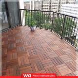 deck madeira sacada Jardim Veloso