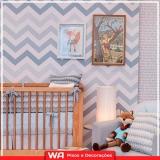 papel de parede quarto de bebê instalação Franco da Rocha