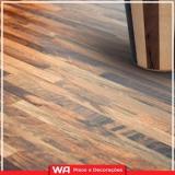 piso laminado colocado para cozinha