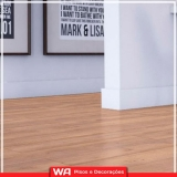 piso laminado de madeira Bonança