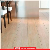 piso laminado em madeira colocado preço Santo André